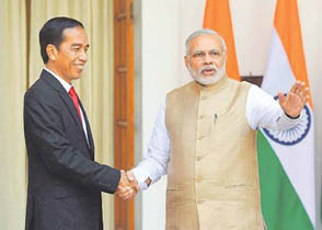 Modi meets  Indonesian President